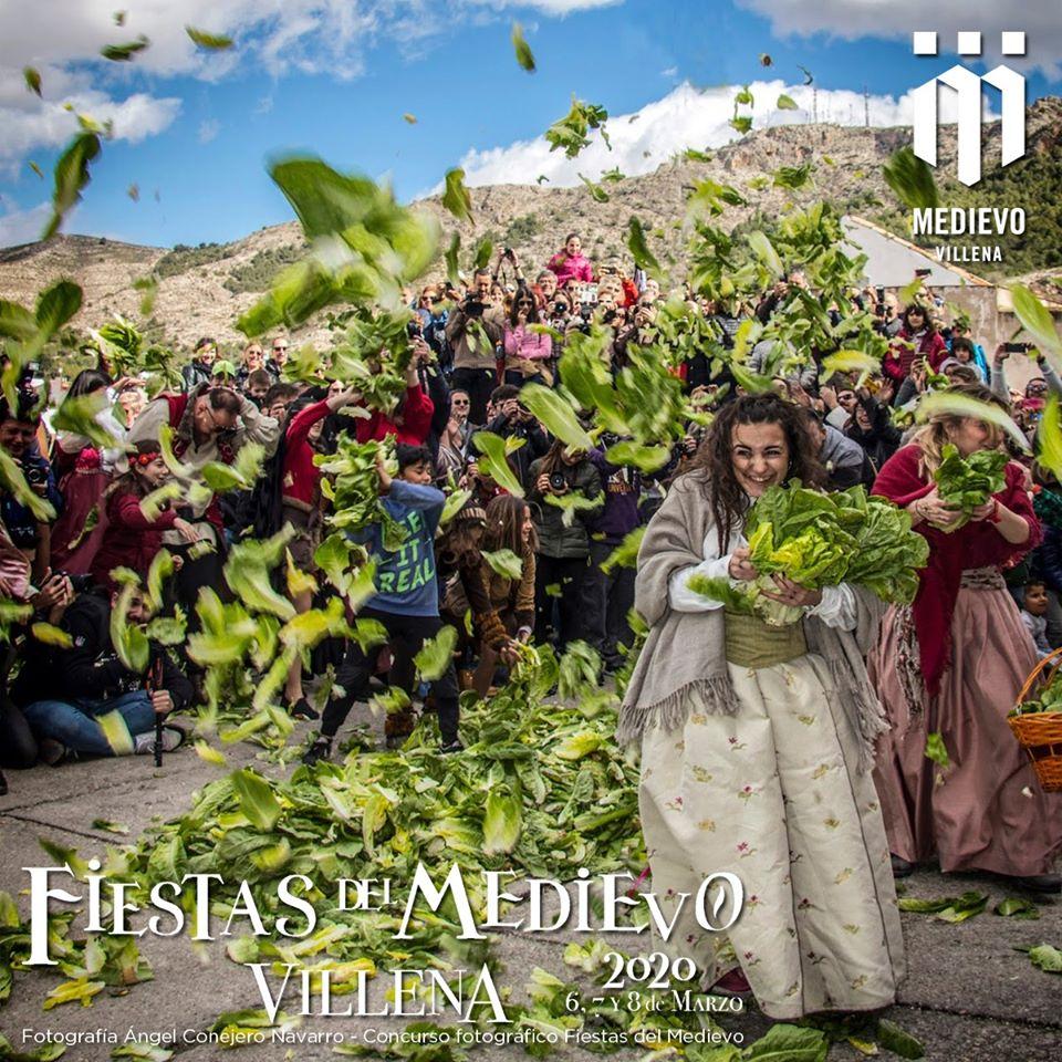 Más de 500 kilos de hojas de lechuga para uno de los actos más divertidos y únicos de nuestras Fiestas del Medievo de Villena